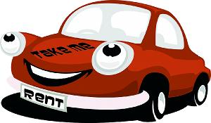 Lachendes Rotes Auto