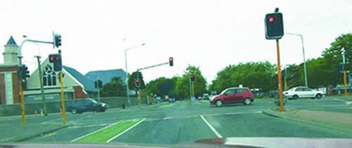 Straßenverkehr in Christchurch
