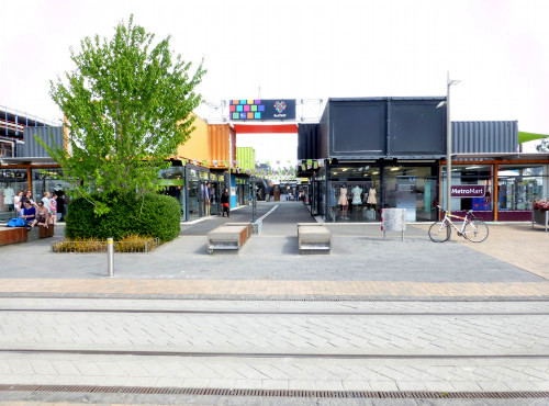 Christchurch City, Re: Start Mall, Container