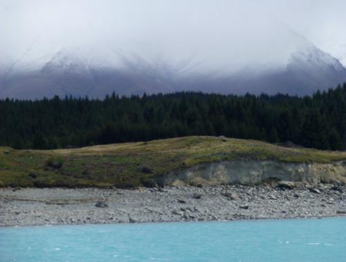 am Ufer des Lake Pukaki