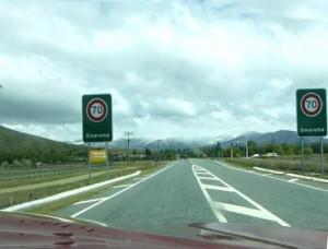 Ortseingang Omarama Neuseeland