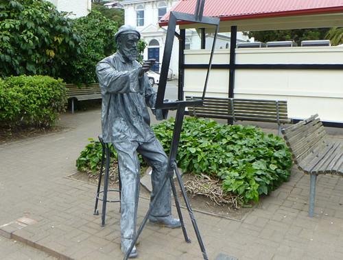 Akaroa Skulptur Maler