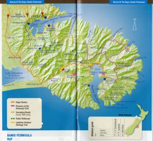 Banks Peninsula Karte
