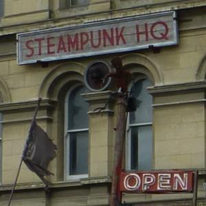 Eingang Oamaru Steampunk HQ open