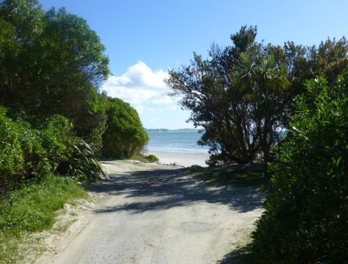 Parkbuchten am Strand bei Shagpoint, Neuseeland, Südinsel