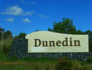 Ortseingang Dunedin, Neuseeland