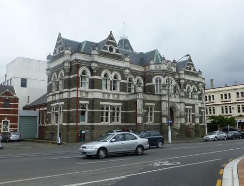 NZ, Dunedin am Bahnhof, Castlestr.
