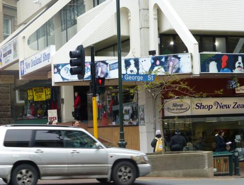 NZ, Dunedin, Octagon-Georgestreet