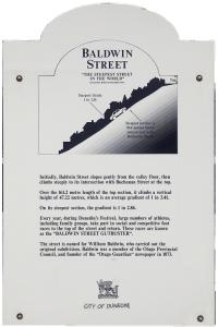 BaldwinStreet Hinweistafel