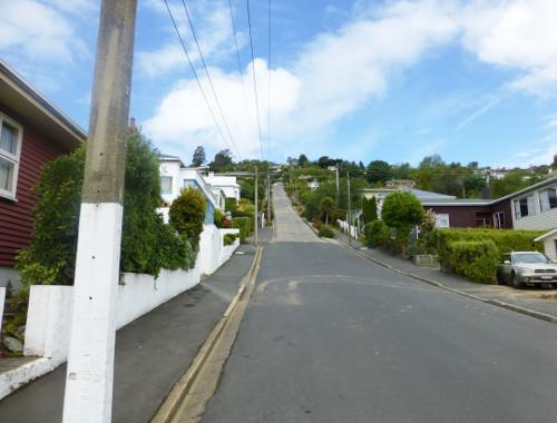 Blick in die Baldwinstreet Dunedin