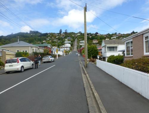 Blick in die Baldwinstreet Dunedin 2