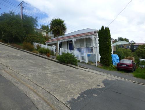 Auf der Baldwinstreet in Dunedin, Neuseeland