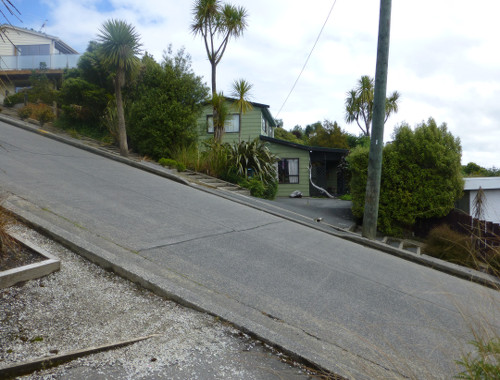 Auf der Baldwinstreet in Dunedin, Neuseeland 2