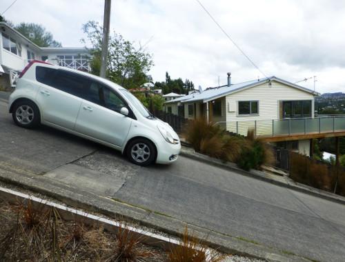 Auf der Baldwinstreet in Dunedin, Neuseeland 3