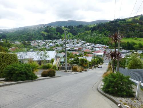 Baldwinstreet in Dunedin, ganz oben