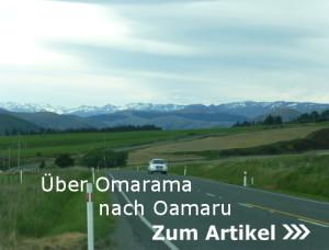 Über Omarama nach Oamaru