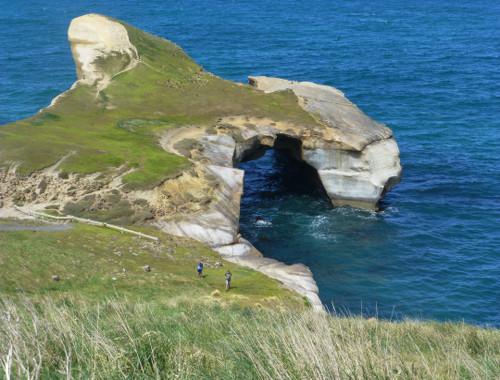Tunnel Beach südlich von Dunedin 7