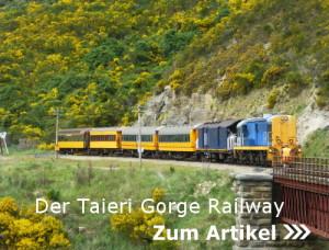 Zugfahrt mit der Taieri Gorge Railway