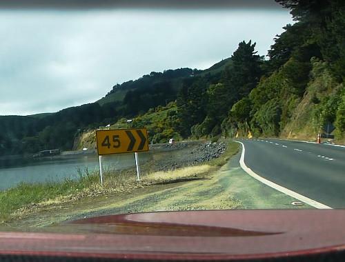 Otago Peninsula, Straße zum Albatross Center 3