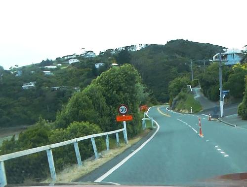 Otago Peninsula, Straße zum Albatross Center 4