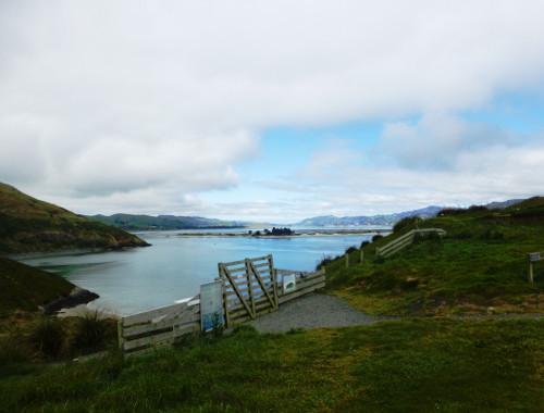 Otago Peninsula. Blick nach Port Chalmers