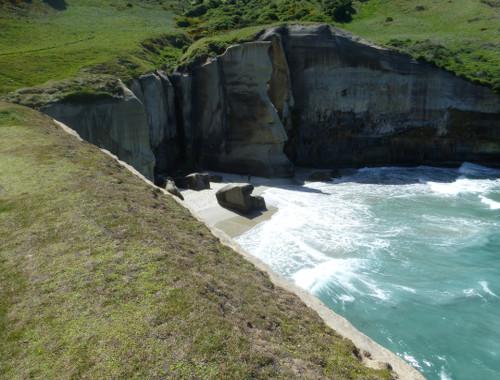 Tunnel Beach südlich von Dunedin 12