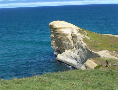 Tunnel Beach südlich von Dunedin 9
