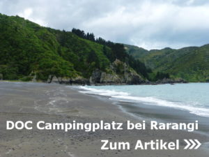 NZ.: DOC Campingplatz bei Rarangi