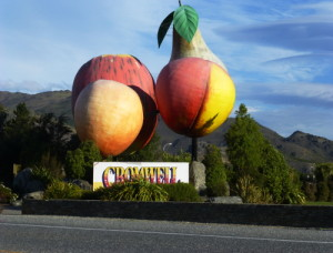 Cromwell, New Zealand, Obstskulptur