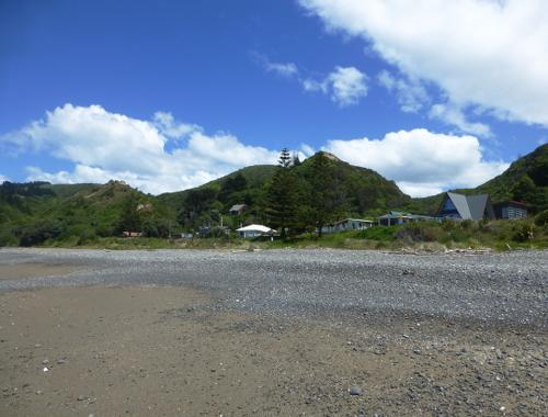 Der Urlaubsort Gore Bay, NZ, 2