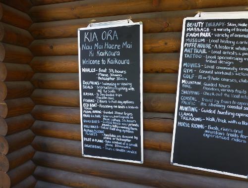 Infos, an der I-Site in Kaikoura 1