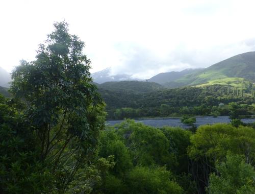 Flusstal, nördlich von Kaikoura, Neuseeland 1