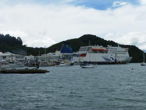Picton NZ. Parkplatz am Hafen 4