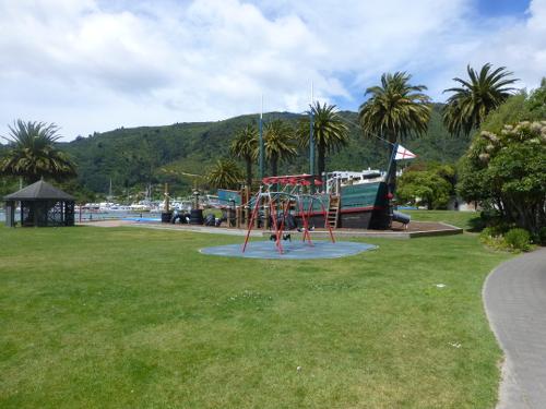Parkanlage am Hafen in Picton 2