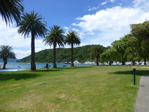 Parkanlage am Hafen in Picton 4