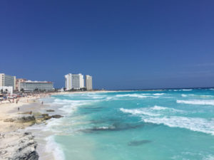 die Stadt Cancún in Mexiko