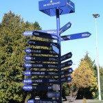 Wegweiser Air Newzealand Städte der Welt