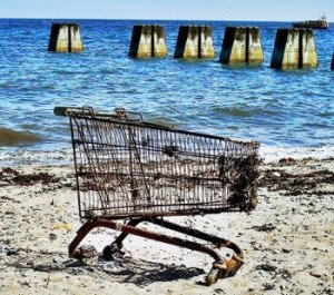 Shopping Cart on the beach
