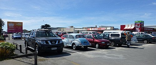 Parkplatz in Christchurch
