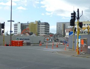 Baustelle in Christchurch