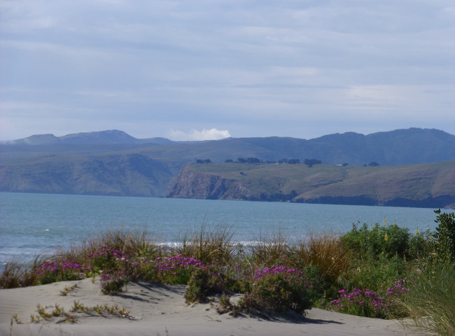 New Brighton Beach, Christchurch Blick in Richtung Sumner