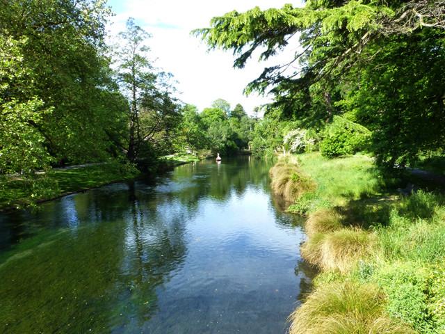 Avon River, im botanischen Garten von Christchurch