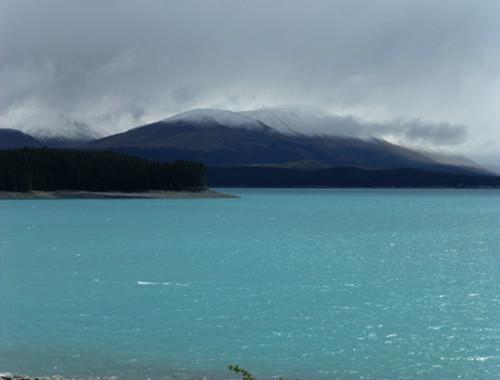 Lake Pukaki, Regenwetter