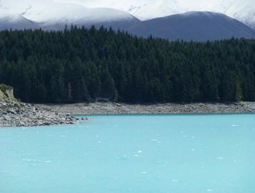 Lake Pukaki, türkisfarbenes Wasser