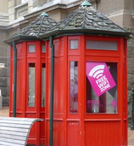rote WiFi Telefonzellen in Neuseeland