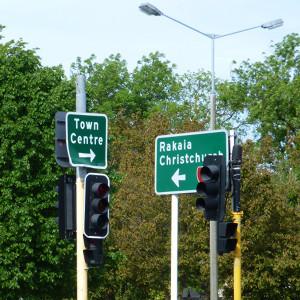 Rakaia NZ Südinsel, Wegweiser