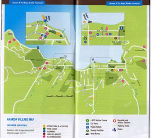 Stadtplan von Akaroa, Neuseeland