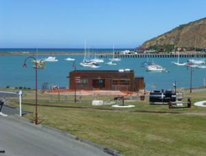 im Hafen von Oamaru, Neuseeland