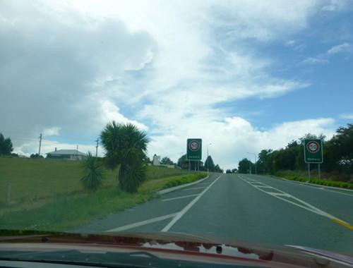 Oamaru, NZ, Ortseingang