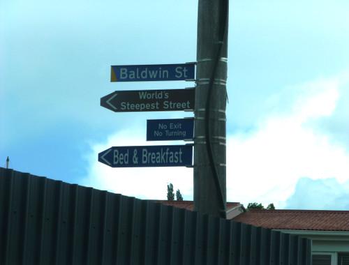 Dunedin, Baldwinstreet, Wegweiser